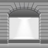 image of boutique  - Vector Shop Boutique Store Front with Big Window and Place for Name - JPG