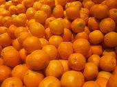 picture of florida-orange  - A fruit stand of oranges waiting to be bought - JPG