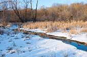 foto of marshes  - Creek running through marshes of minnesota valley national wildlife refuge in bloomington - JPG
