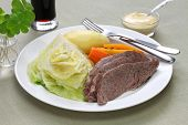 image of guinness  - corned beef and cabbage - JPG