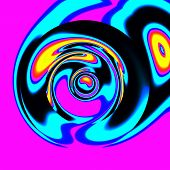 picture of trippy  - Crazy illustration with smeared colors on pink base - JPG