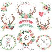 picture of antlers  - Wedding Floral Antlers - JPG