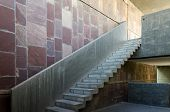 image of staircases  - Exposed concrete staircase in a modern building - JPG