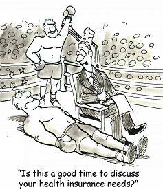 picture of mandate  - Cartoon of boxer knocked out on mat - JPG