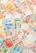 picture of twenty dollars  - Hong Kong dollar background - JPG