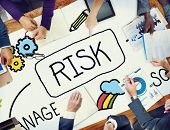 foto of risk  - Risk Management Access and Control Weakness Concept - JPG