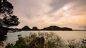 stock photo of james bond island  - Natural landscape beautiful sea around the Khao Tapu or James Bond Island at the evening during the summer in Ao Phang Nga Bay National Park Thailand 16 - JPG