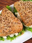 image of whole-grain  - Healthy tuna sandwich with whole grains bread - JPG