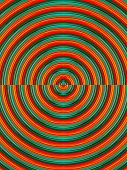 stock photo of psychedelic  - red and green psychedelic seamless circle background - JPG