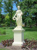 foto of goddess  - The Statue of the Roman Goddess Flora at the Halifax Public Gardens In Halifax Nova Scotia Canada - JPG