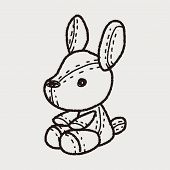 picture of rabbit year  - Rabbit Doll Doodle - JPG