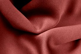 picture of marsala  - closeup of a Marsala color satin fabric backdrop - JPG