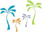Постер, плакат: Пастель пальмы