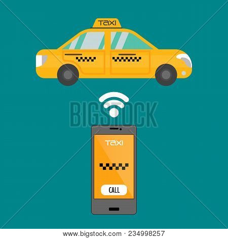 Taxi Mobile App Concept Smartphone