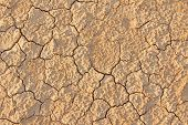 Barren Earth. Dry Cracked Earth Background. Cracked Mud Pattern. Soil In Cracks.creviced Texture.dro poster
