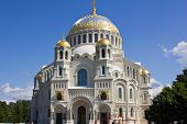 Naval Cathedral Of Saint Nicholas In Kronstadt, Russia