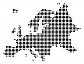 Dotted Europe Map. Vector Concept Of Europe Map Composed Of Round Dots. Vector Geographic Map. poster
