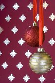 Christmas Ball Background (Selective And Soft Focus) poster