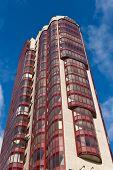 pic of sankt-peterburg  - Modern big skyscraper against the sky Sankt - JPG