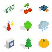 Environmentally Sound Icons Set. Isometric Set Of 9 Environmentally Sound Vector Icons For Web Isola poster