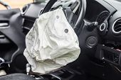 Airbag Exploded At A Car Accident,car Crash Air Bag,airbag Work poster