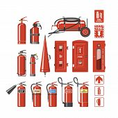 Fire Extinguisher Vector Fire-extinguisher To For Safety And Protection To Extinguish Fire Illustrat poster