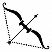 Hard Bow Icon. Simple Illustration Of Hard Bow Vector Icon For Web poster
