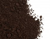 Soil or dirt crop isolated on white poster