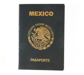 image of passport cover  - The cover of a mexican passport on white - JPG