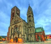 Medieval Cathedral, Church Of Our Lady In Ribe, Denmark - Hdr poster