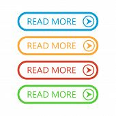Set Of Read More Buttons. Vector Colorful Buttons Isolated. Web Buttons. poster