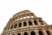 Colosseo Of Rome Isolated On White Background, Amphitheatrum Flavium 72 A.d. Ancient Coliseum Or Col poster