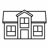 Residential Cottage Icon. Outline Residential Cottage Vector Icon For Web Design Isolated On White B poster
