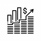 Black Line Icon For Successful-investment Successful Investment Invest poster