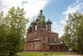 Yaroslavl, The Church Of St. John The Baptist In Tolchkovo. A Beautiful Old 17th-century Red Brick T poster