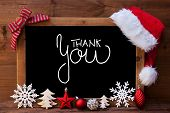 Chalkboard, Christmas Decoration, Red Ball, Calligraphy Thank You poster