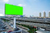 Billboard Blank Green Screen For Outdoor Advertising Poster poster