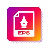 White Eps File Document. Download Eps Button Icon Isolated On White Background. Eps File Symbol. Squ poster