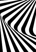 Optical Contrast Abstract Background With Distorted Lines. Black And White Striped Psychedelic Backg poster