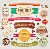 stock photo of labelling  - Set of vector retro ribbons - JPG