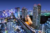 stock photo of horizon  - Dense buildings in Minato - JPG