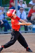 picture of little-league  - Little league baseball player swinging the bat - JPG
