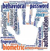 foto of dna fingerprinting  - Biometric in word collage - JPG