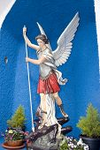 pic of lucifer  - a statue of saint michael slaying the devil in county Kerry Ireland - JPG