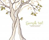 picture of placard  - card design with stylized tree - JPG