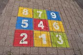 stock photo of hopscotch  - Children - JPG