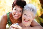 stock photo of mother daughter  - close - JPG