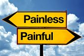 foto of opposites  - Painless or painful opposite signs - JPG