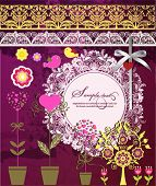 Vector scrap booking set. Eps 10 file with transparencies and drop shadow(banner).All elements are s