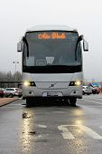 Grey Volvo Coach Bus